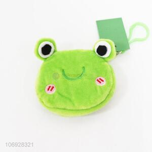 Contracted Design Cute Frog Coin Purse Soft Toy Plush Gift Bag Accessory