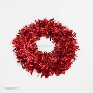 Promotional popular Christmas tree decoration tinsel wreaths