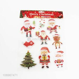 Top selling festival decoration silicone Christmas window stickers