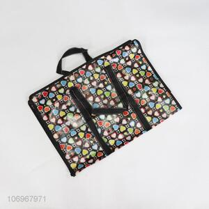 Low Price Heart Pattern Plastic Woven Storage Shopping Bag