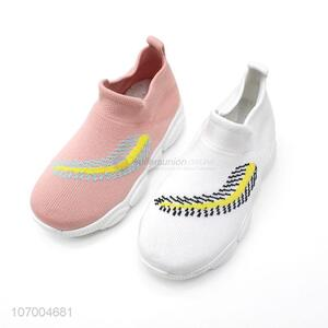 Best Sale Breathable Flyknit Mesh Children Fashion Sport Sneakers