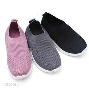 Premium Quality Breathable Flyknitting Mesh Casual Sneakers Kids Sport Shoes