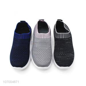 Wholesale Kids Flyknit Mesh Casual Cute Athletic Running Shoe