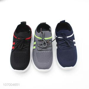 Custom Children Sport Shoes Flyknitted Mesh Breathable Casual Shoes
