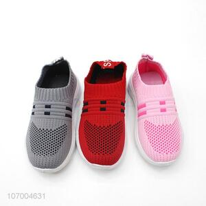 Personalized Popular Flyknitted Fashion Lovely Children Sport Shoes