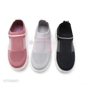 Custom Fashion Breathable Children Flyknit Mesh Casual Sport Shoes
