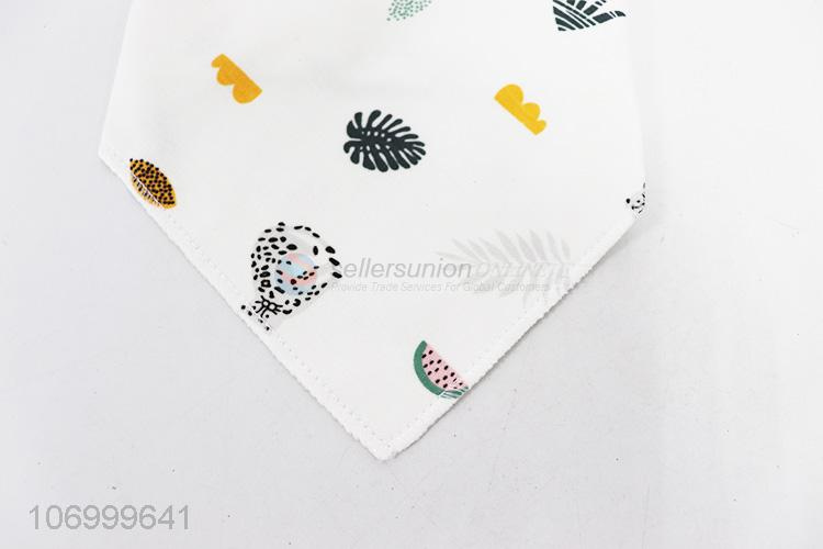 Factory price cotton baby bandana bibs for drooling and teething