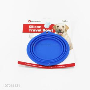Hot selling premium quality collapsible silicone travel bowl for dogs