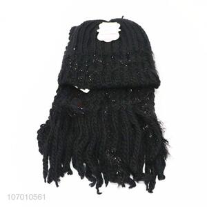 Good Quality Knitted Hat And Scarf Set For Winter