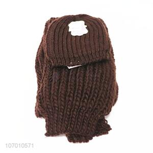New Style Knitted Hat And Scarf Set For Winter