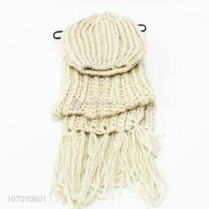 Best Quality Winter Warm Knitted Hat And Scarf Set
