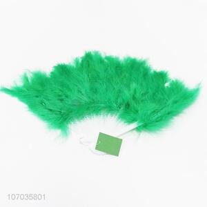 New products colorful feather hand fan folding hand fan