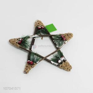 Wholesale products handmade Christmas wooden star ornaments