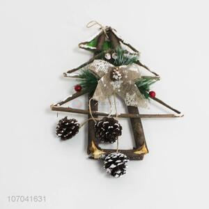 New arrival 100% handmade Christmas wooden tree ornaments