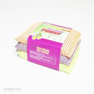 Good Quality 3 Pieces Scouring Pad Cleaning Sponge