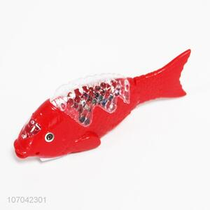 Factory wholesale kids toys LED swimming fish toys with music