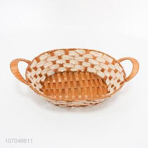 China supplier home plastic wicker rattan basket bread fruit basket