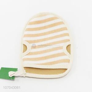 Good Quality Stripe Pattern Bath Gloves For Sale