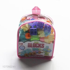 Portable Backpack Plastic Puzzle Building Blocks Set
