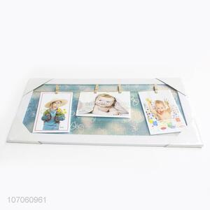 Unique Design Personalized Photo Frame With Photo Clips