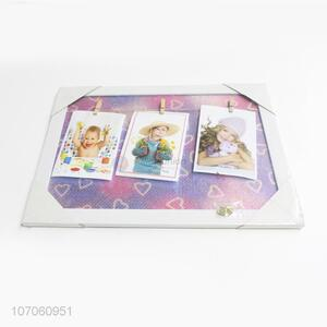 Wholesale Color Printing Photo Frame With Photo Clips