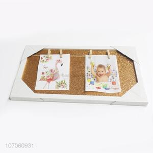 New Design Glitter Photo Frame With Small Wooden Clips