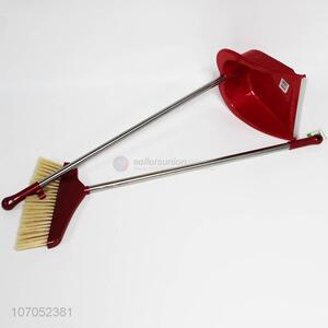 Hot sale household cleaning tools plastic dustpan and broom set