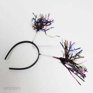 New arrival party supplies tinsel headband tinsel hairband