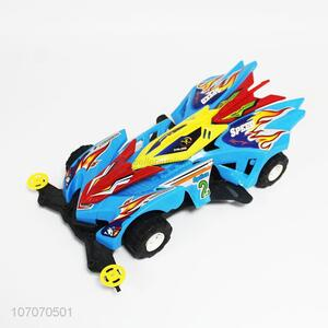 Hot selling colorful plastic four-wheel drive racing car for kids