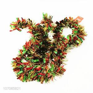 OEM Christmas tree decoration colorful glitter tinsel wholesale