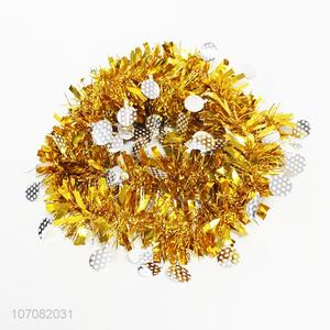 Best sale Christmas tree ornament glitter tinsel garland wholesale