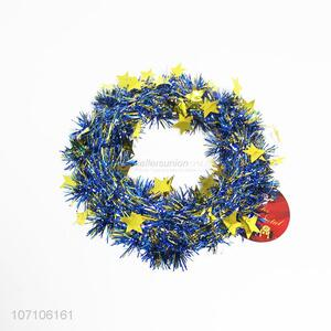 Best selling festival decoration glitter Christmas wreath