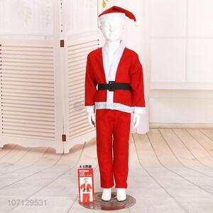 Fashion Christmas Dress Non-Woven Santa Claus Costume Suit For Boys