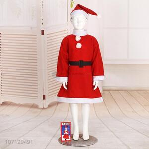 Custom Girls Christmas Dress Fashion Santa Claus Costume Suit