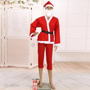 Good Quality Christmas Santa Claus Costume For Children