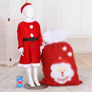Best Sale Girls Christmas Dress Santa Claus Costume