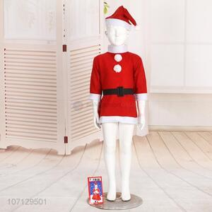 Good Sale Christmas Decoration Santa Claus Costume For Girls