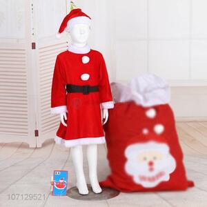 Newest Christmas Dress Santa Claus Costume For Girls