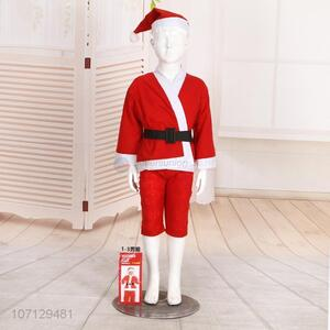 Christmas Dress 4 Pieces Santa Claus Costume Suit For Boys