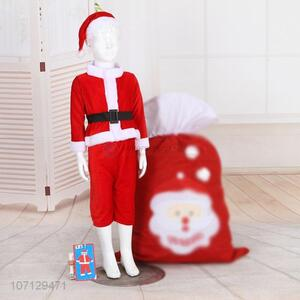 Popular Christmas Santa Claus Costume For Boys