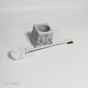 Hot sale bathroom plastic toilet brush and holder cleaning brushes