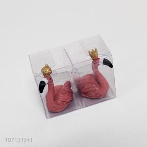 New design resin crafts flamingo couple figurines for home decoration