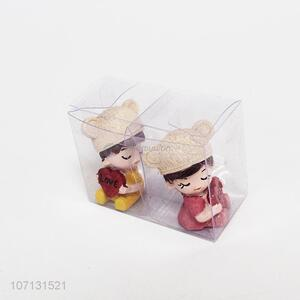 Hot selling resin lovers doll figurines for home decoration