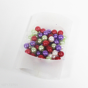 Wholesale Colorful Plastic Pearl Decorative Beads