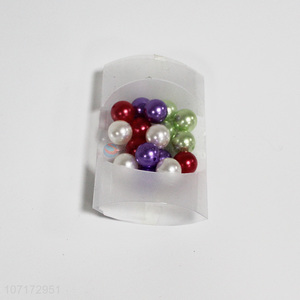 Wholesale Colorful Plastic Pearls Fashion Garment Accessory