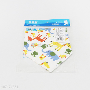 China supplier custom printing washable pure cotton baby bibs