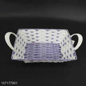 Best Selling Plastic Weaved Basket Food Storage Basket