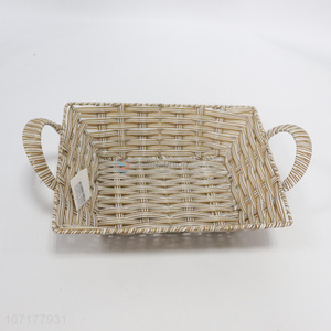 New Arrival Home Decoration Plastic Weaved Basket Storage Basket