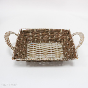 Good Sale Plastic Weaved Basket Storage Basket