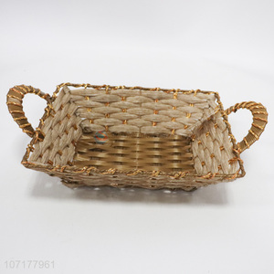 Fashion Design Plastic Weaved Basket Storage Basket
